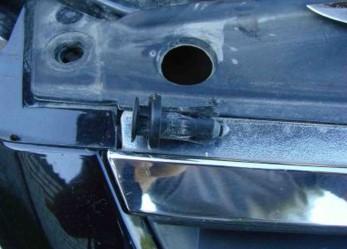 Установка сетки на передний бампер Nissan Almera