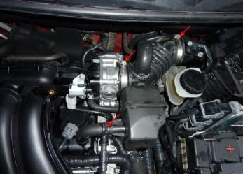 Nissan Qashqai промывка дроссельной заслонки