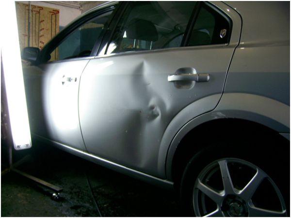 Кузовной ремонт без покраски: фото задней дверцы до