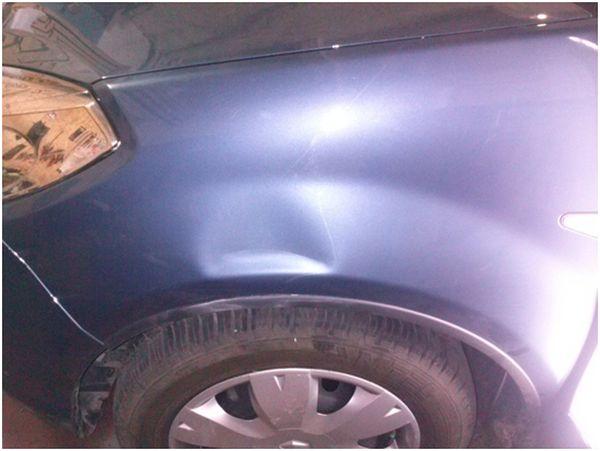 Кузовной ремонт без покраски: помятое крыло