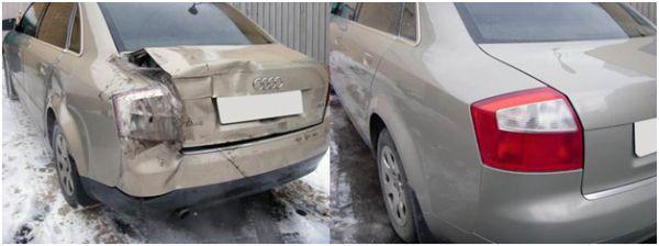 Кузовной ремонт бампера: фото до и после
