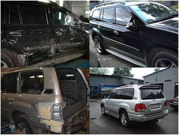 Фото авто после аварии и результаты кузовного ремонта