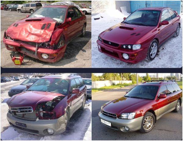 Покраска и кузовной ремонт капота на СТО: фото до и после