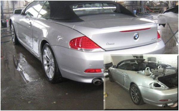 Покраска и кузовной ремонт на СТО: фото кабриолета до и после