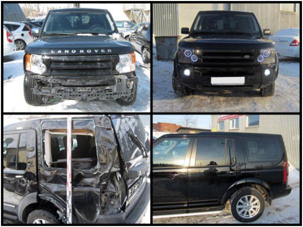 Покраска и кузовной ремонт Ленд Ровера на СТО: фото до и после