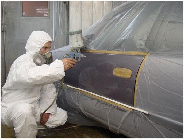 Фото покраски дверцы на СТО