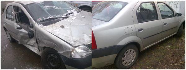 Кузовной ремонт и покарска на СТО после значительной аварии