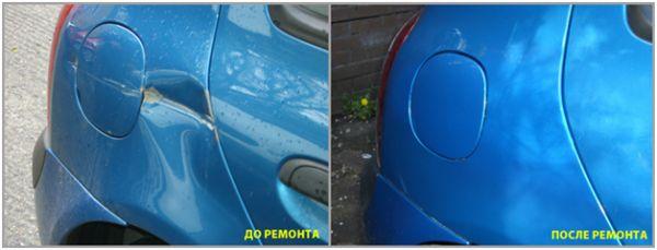 Покраска и кузовной ремонт на СТО: фото до и после ремонта бампера
