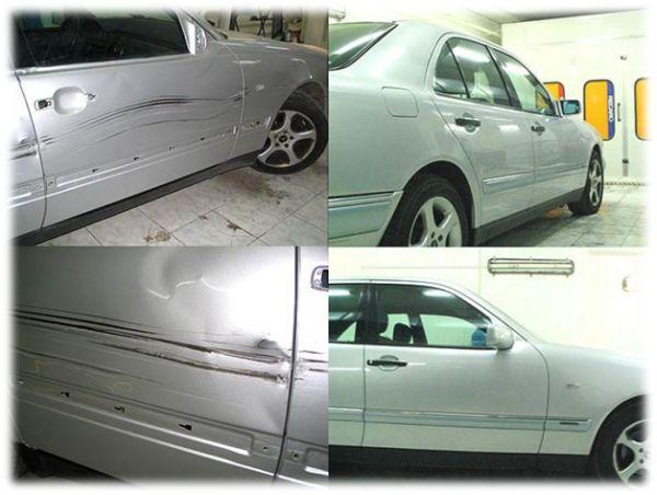 На фото авто после мелкого кузовного ремонта и покраски