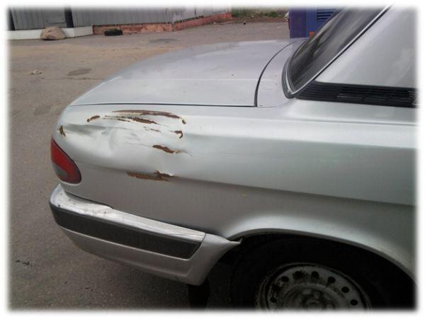 Авто нужен мелкий кузовной ремонт и покраска возле багажника