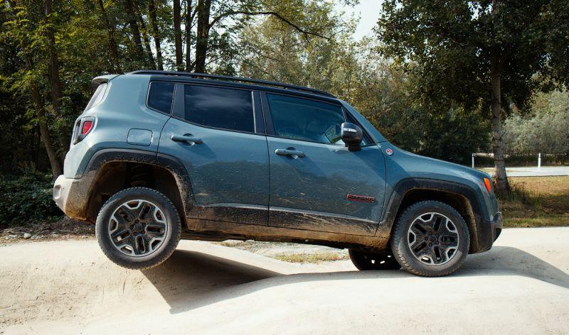 Диагональное вывешивание Jeep Renegade Trailhawk