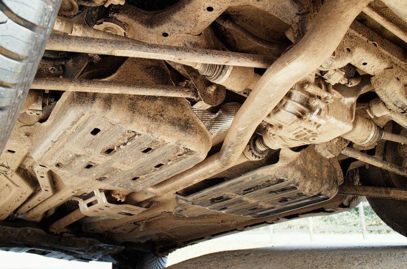 На фото задняя подвеска Jeep Renegade Trailhawk