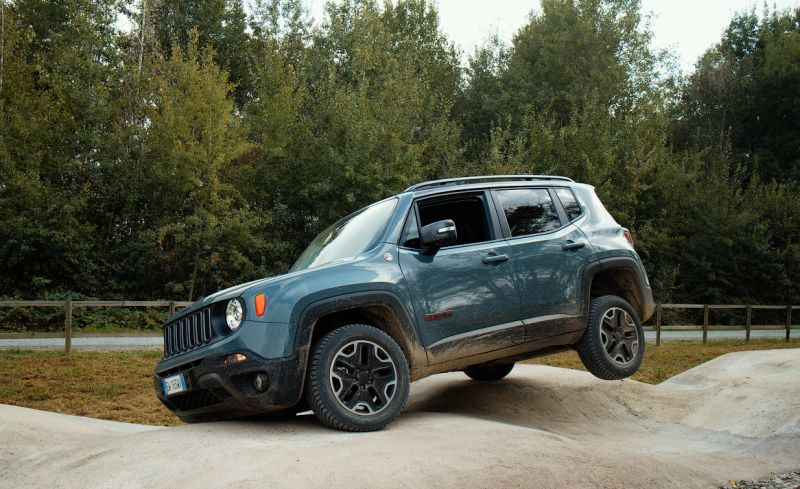 Jeep Renegade Trailhawk на тарированном бездорожье