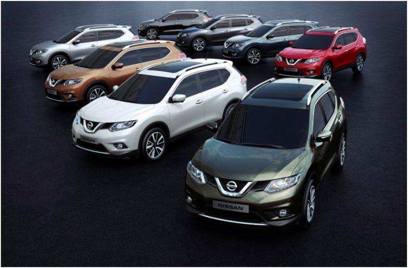 Nissan X-Trail 2015 в различных вариантах расцветок
