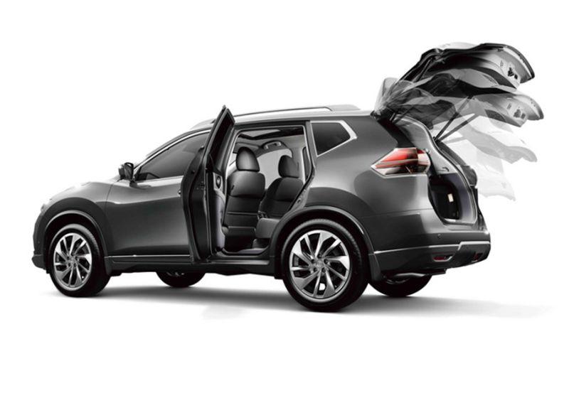 Nissan X-Trail 2015: возможности открытия багажника