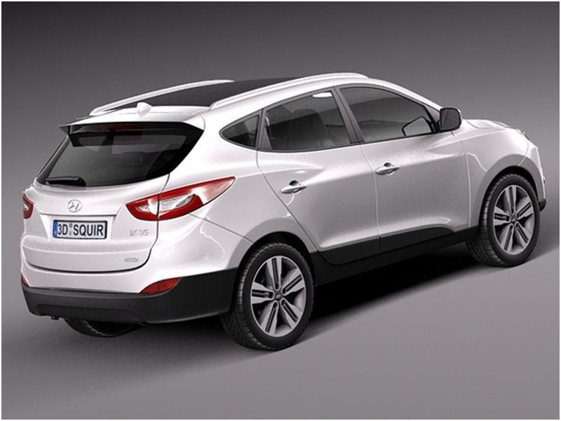 Сравнение Kia Sportage и Hyundai ix35: на фото Hyundai ix35 белого цвета