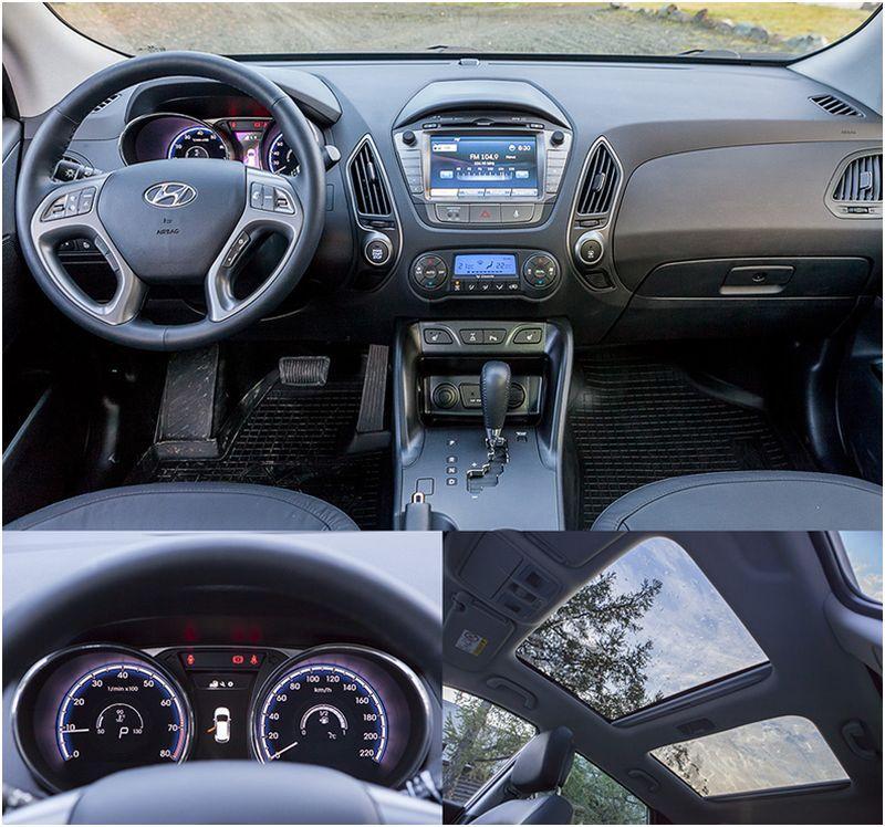 Сравнение Kia Sportage и Hyundai ix35: на фото салон Хюндай
