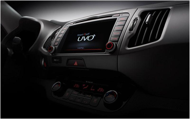 Сравнение Kia Sportage и Hyundai ix35: на фото центральная панель Киа