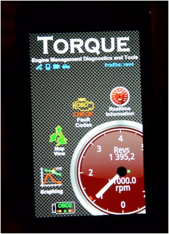 Диагностика ошибок Renault Logan: на фото окно программы Torque