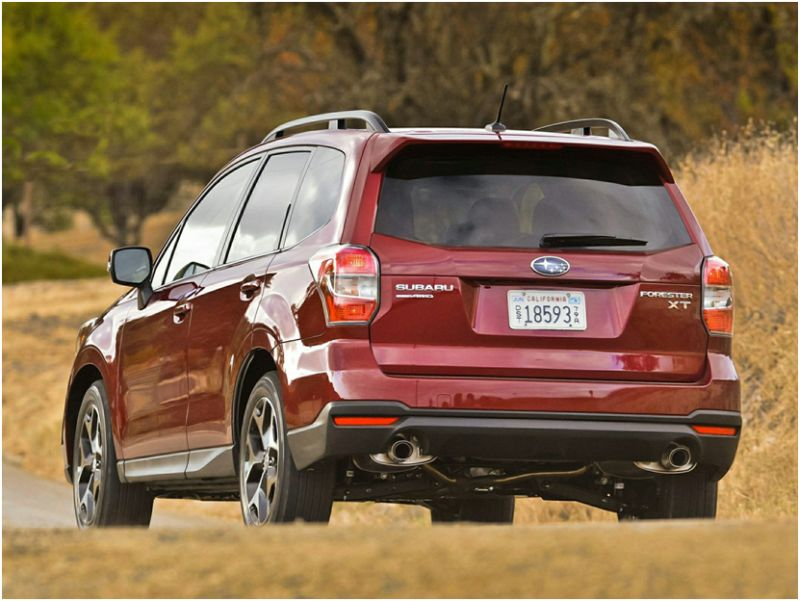 Сравнение Subaru Forester и Honda CR-V: фото задней части Субару