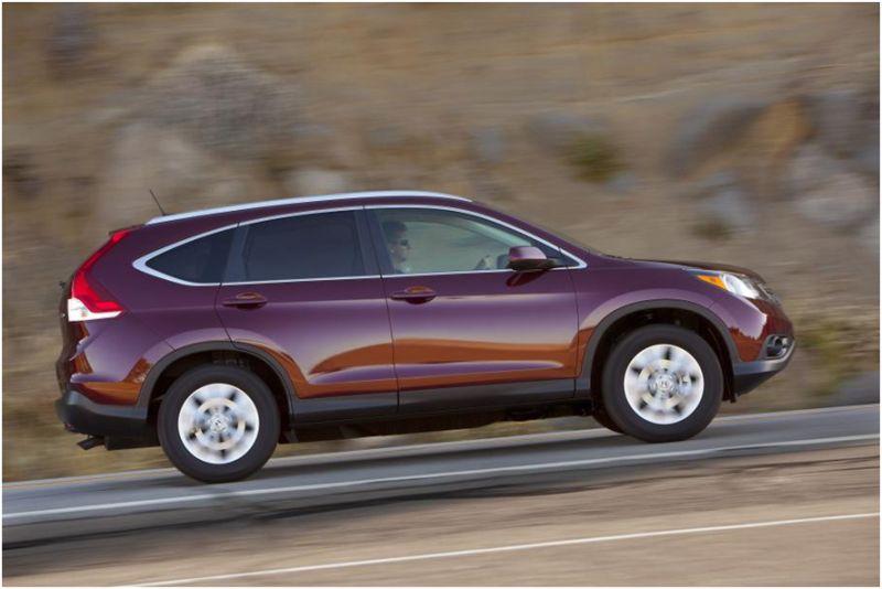 Сравнение Subaru Forester и Honda CR-V: фото второго авто на дороге