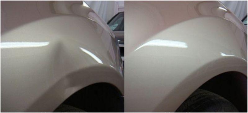 Ремонт вмятин без покраски по технологии PDR: фото до и поле