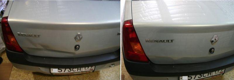 Ремонт вмятин без покраски: на фото авто до и после