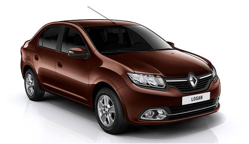 На фото Renault Logan коричневого цвета