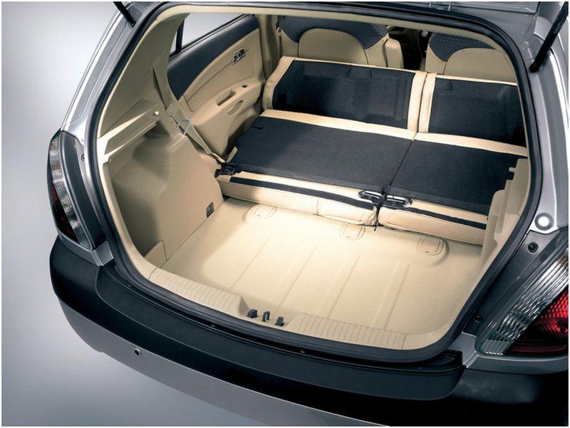 Фото багажника Рено Логан с опущенными задними сиденьями