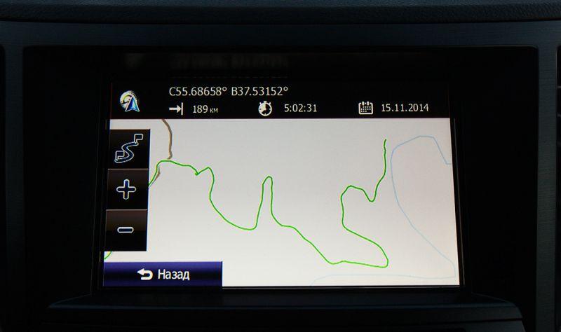 Subaru Outback: на фото навигационная система