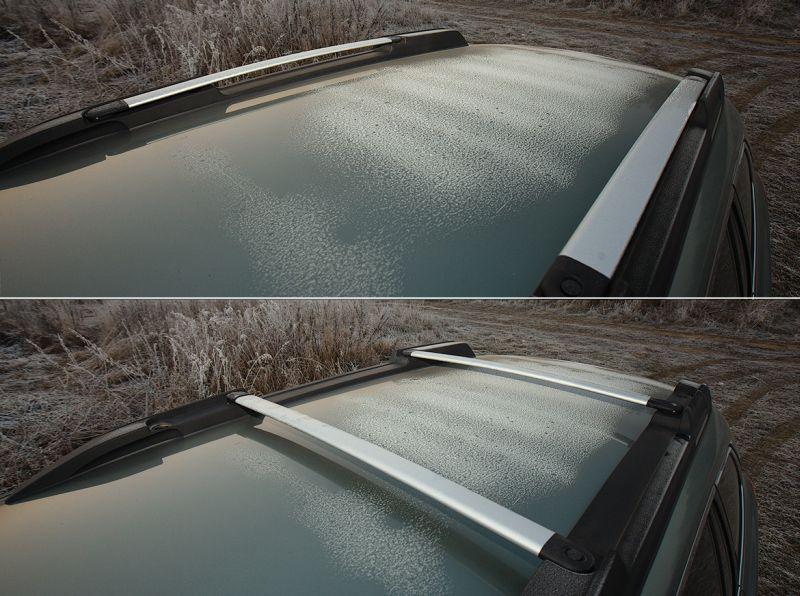 Subaru Outback: интегрированные рейлинги на крыше авто