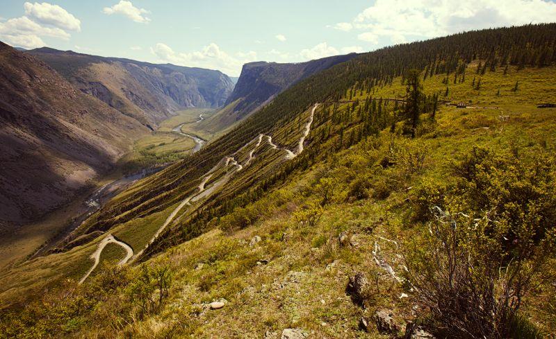 Путешествие на Peugeot 2008: фото перевала Кату-Ярык сверху