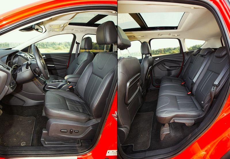 Ford Kuga 2: на фото первый и второй ряд сиденьев