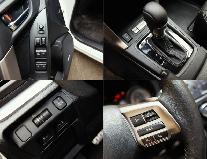 Subaru Forester XT: фото кнопок на руле, коробке передач, дверце
