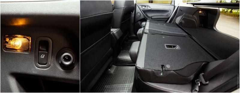 Subaru Forester XT: на фото спинки задних сиденьев в сложенном виде