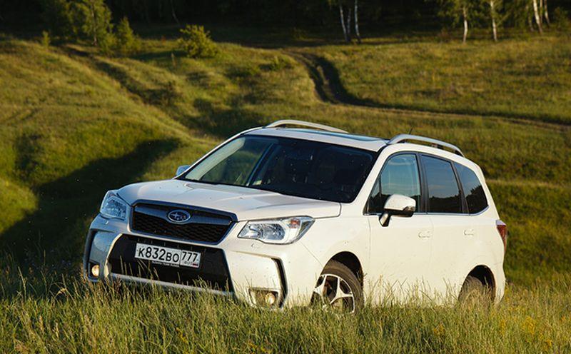 Subaru Forester XT - езда по грунту