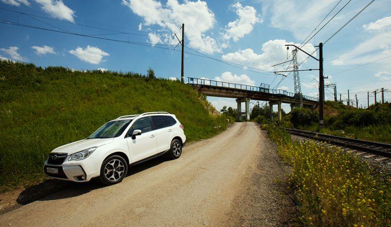Тест драйв Subaru Forester XT вне асфальта