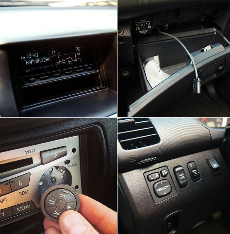 Mitsubishi L200 - фото центральной панели с бортовым компьютером