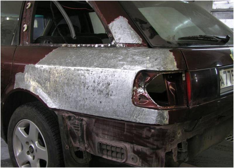 Автомобиль прошёл гидравлический кузовной ремонт