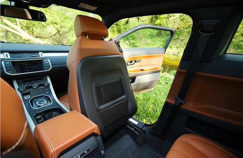 Range Rover Evoque: фото второго ряда сиденьев