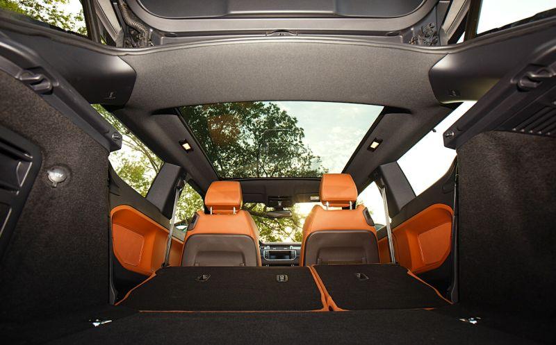 Range Rover Evoque: на фото панорамное остекление крыши