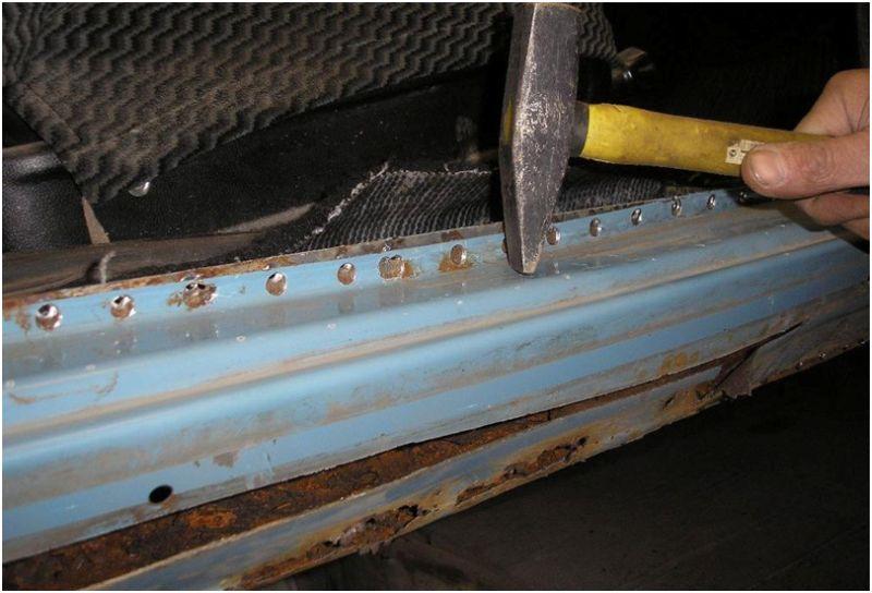 Кузовной ремонт порогов на отечественном авто