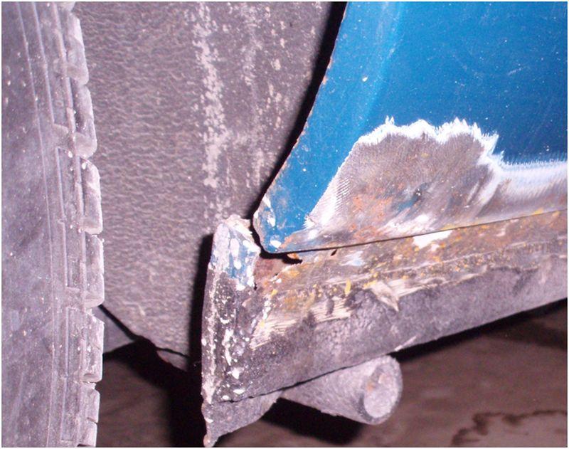 Кузовной ремонт порогов - участки коррозии