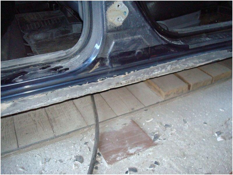 Кузовной ремонт порогов: на фото несъёмный порог